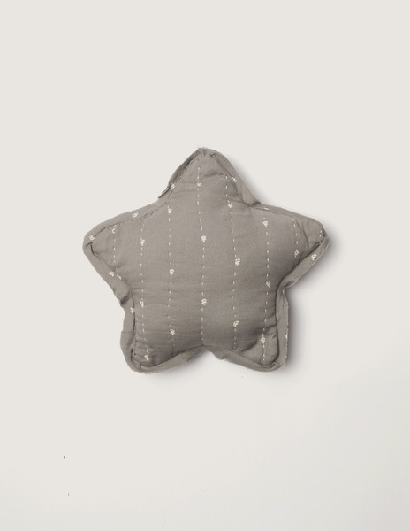 Grey bushes small star cushion