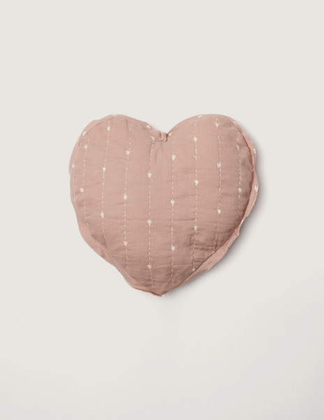 Pink bushes small heart cushion
