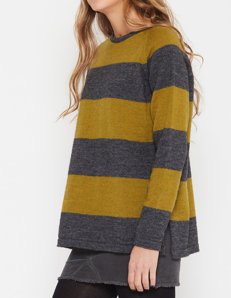 bicolour striped sweater