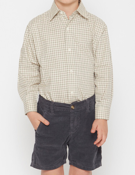 Green/brown checked shirt
