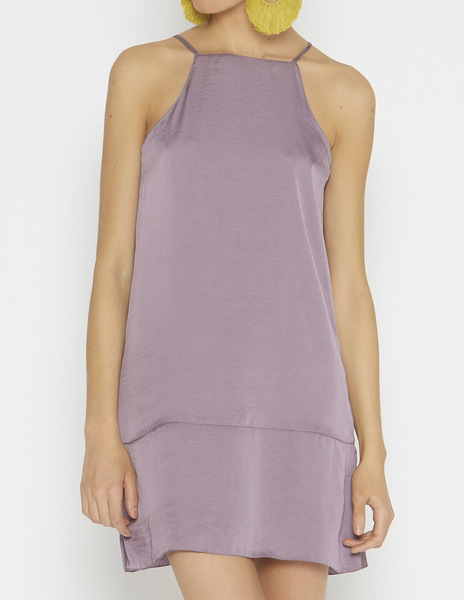 Short lilac halterneck dress