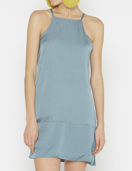 Short grey blue halterneck dress