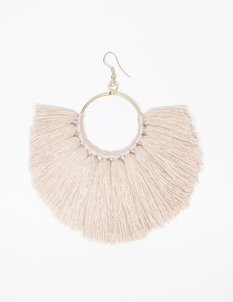 Pink pompom earrings