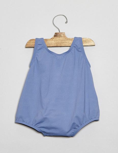 Girls' light blue baby swimsuit