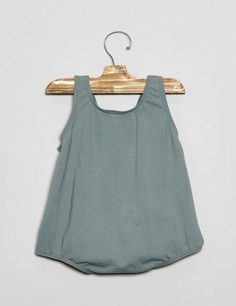Girls' green baby swimsuit