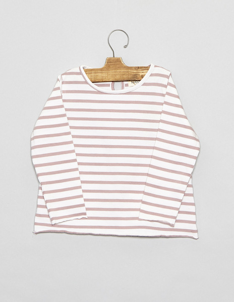 Pink stripey baby top