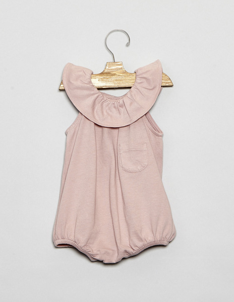 Pink baby dungarees