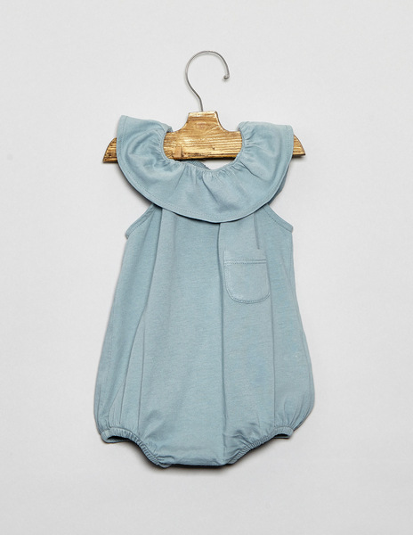 Turquoise baby dungarees