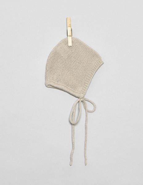 Beige newborn bonnet