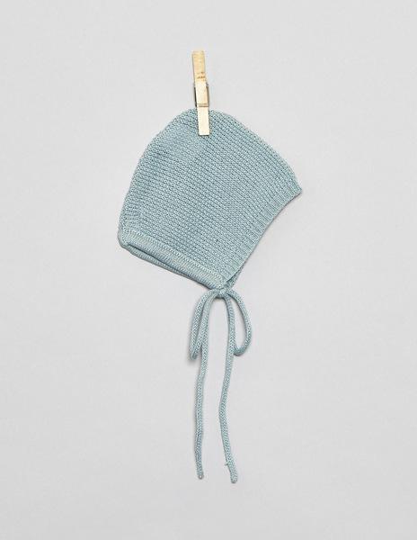 Turquoise newborn bonnet