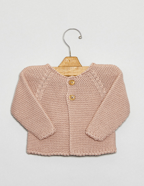Pink button cardigan