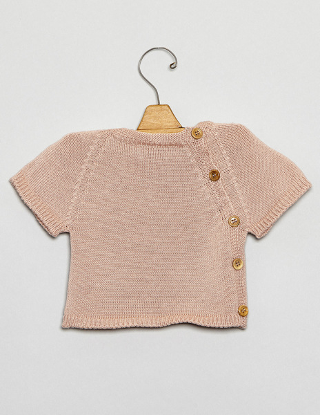 Pink button sweater