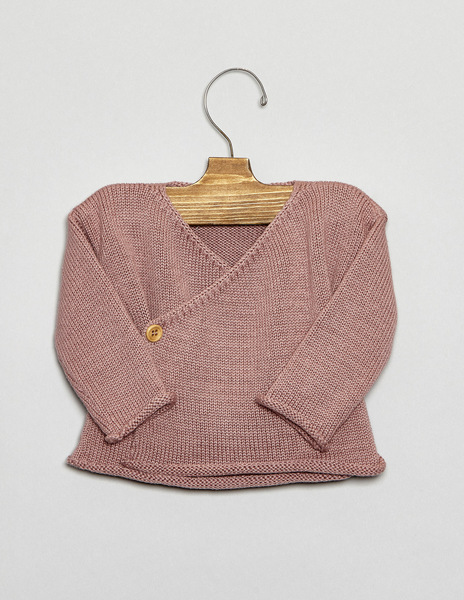 Blackberry crossover sweater