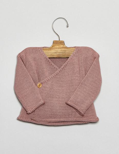 Blackberry crossover newborn sweater