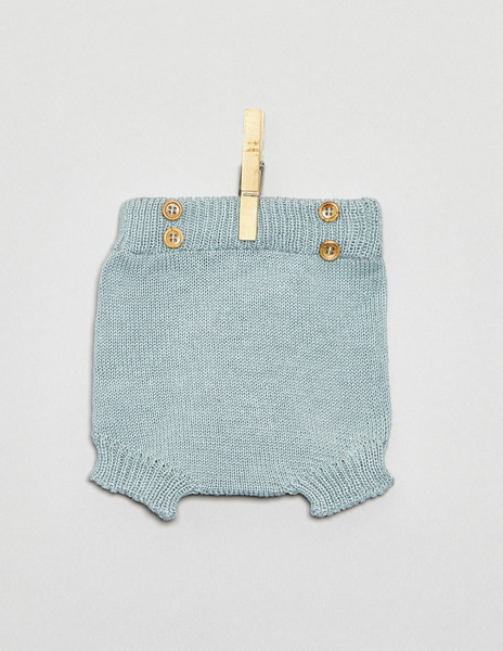 Turquoise button newborn bloomers
