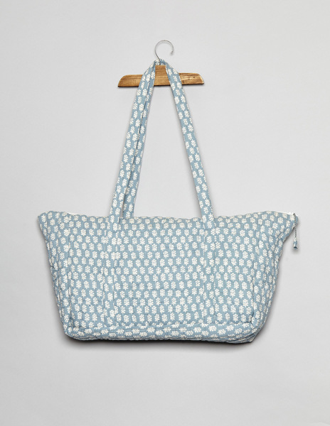 Turquoise buti print change bag