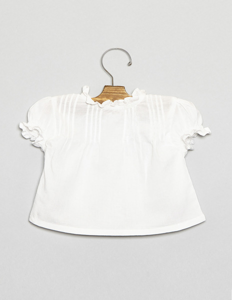 Newborn top with pintucks