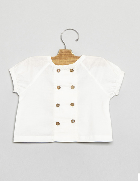 Double button newborn top
