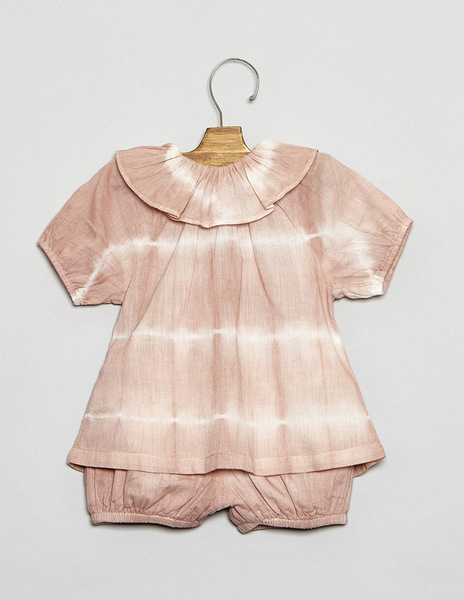 Pink tie dye baby outfit