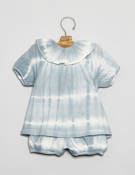 Turquoise tie dye baby outfit