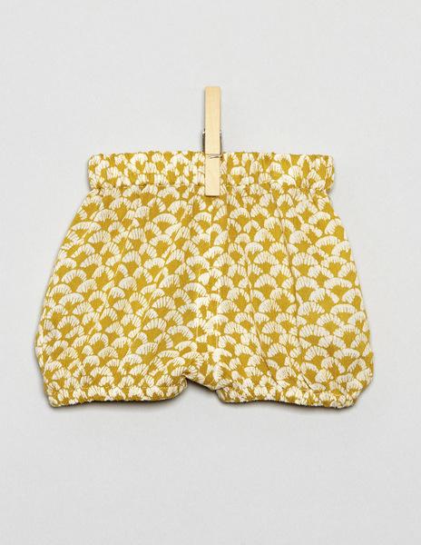 Mustard print bloomers