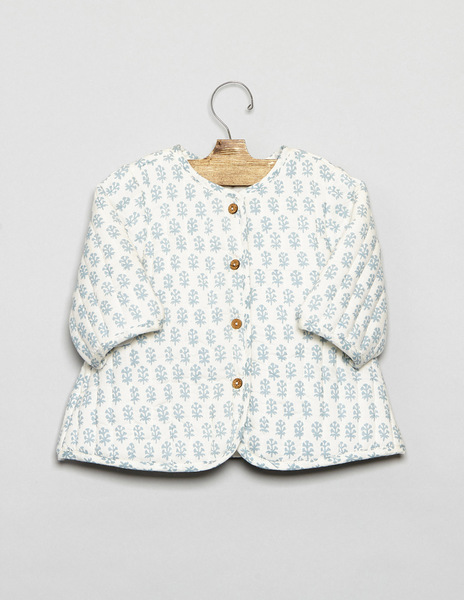 Buti print quilted cardigan