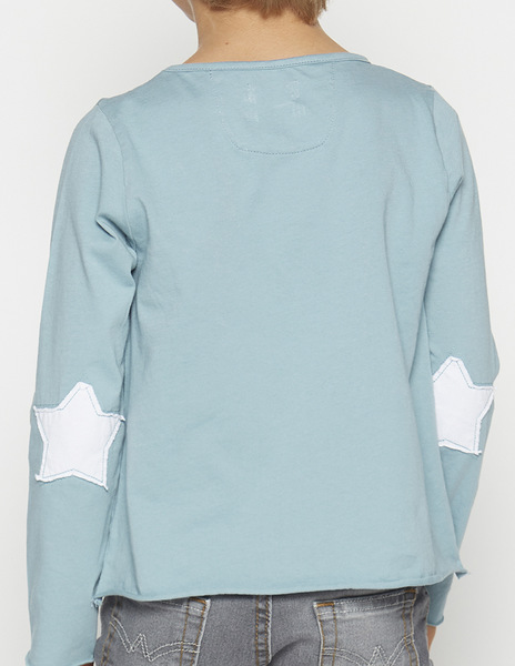 Turquoise elbow patches t-shirt