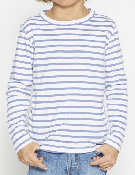 Boys' Indigo stripey t-shirt