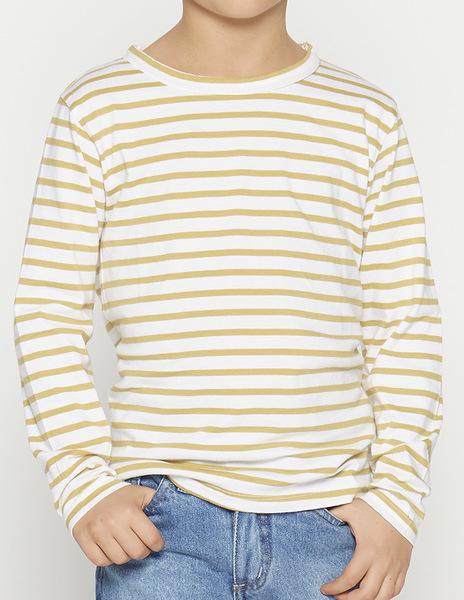 Boys' mustard stripey t-shirt