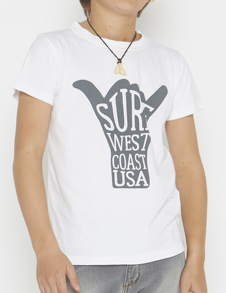 White surf hand t-shirt