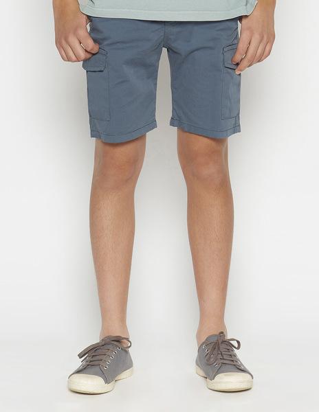 Dark blue chino shorts with pockets