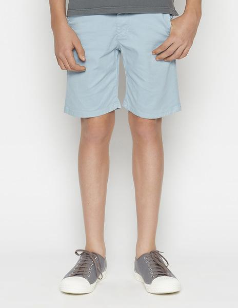 Turquoise chino shorts