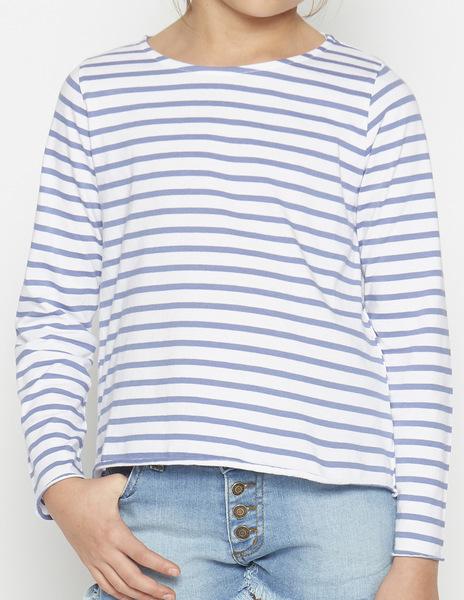 Girls' Indigo stripey top
