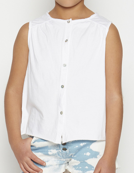 White top with piping