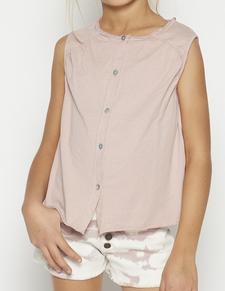 Pink top with piping