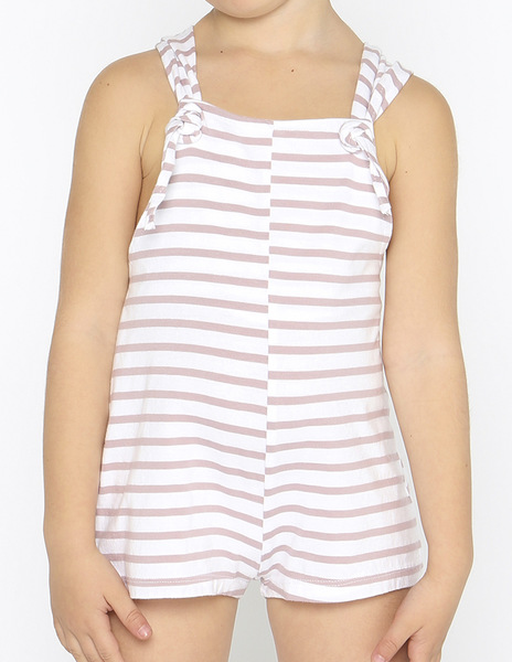Pink stripey dungarees