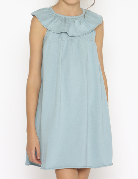 Turquoise ruffle beach dress