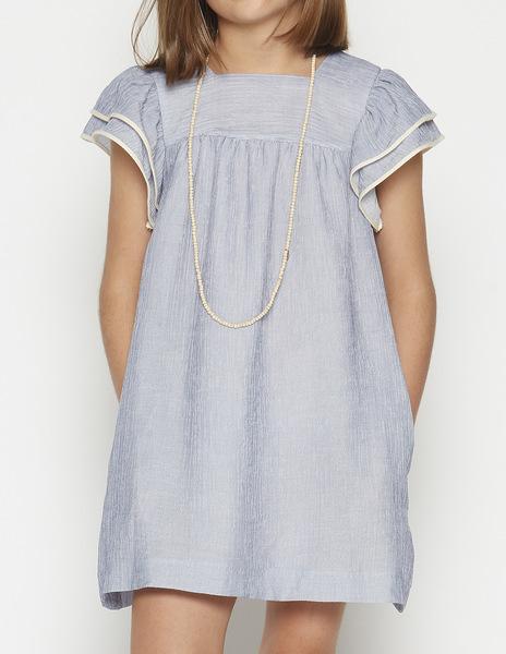 Blue stripey dress