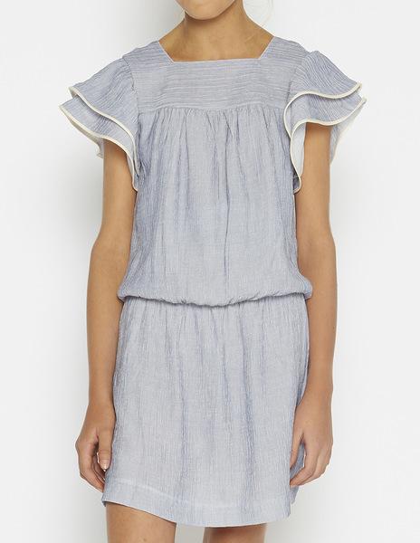 Blue stripey drop waist dress