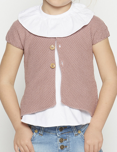 Blackberry short sleeve cardigan