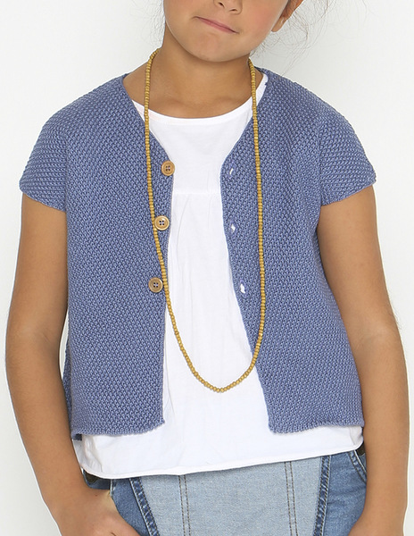 Indigo short sleeve cardigan