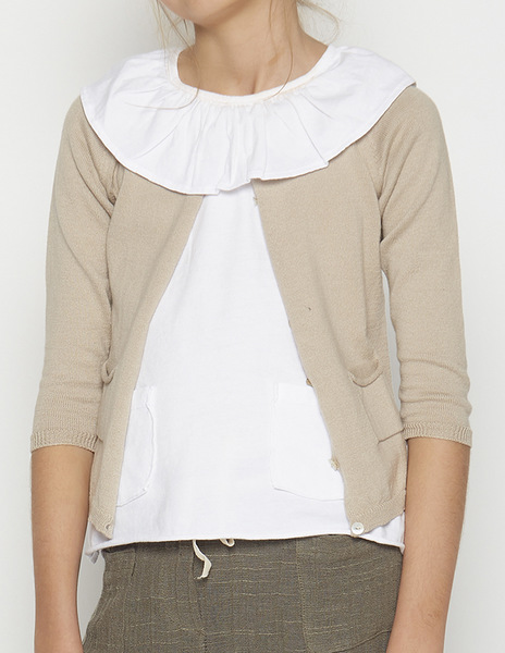 Beige cardigan with pockets