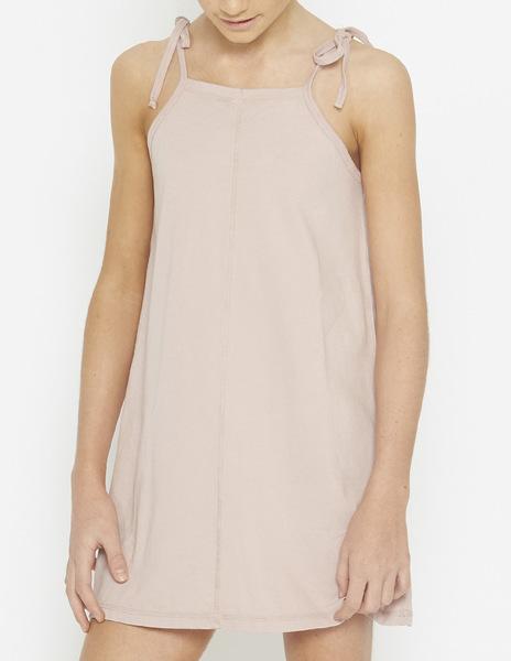Pink strappy beach dress