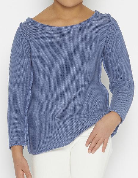 Indigo seam sweater