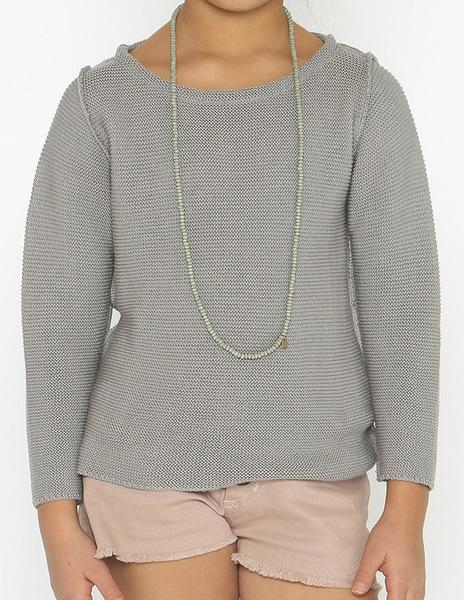 Grey seam sweater