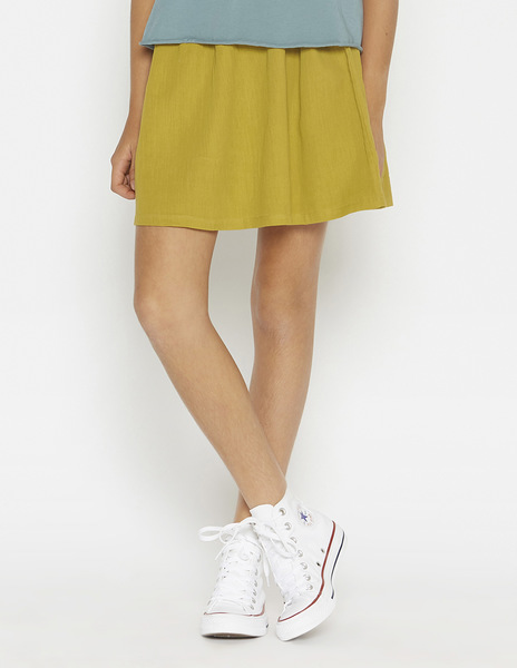 Mustard bow skirt
