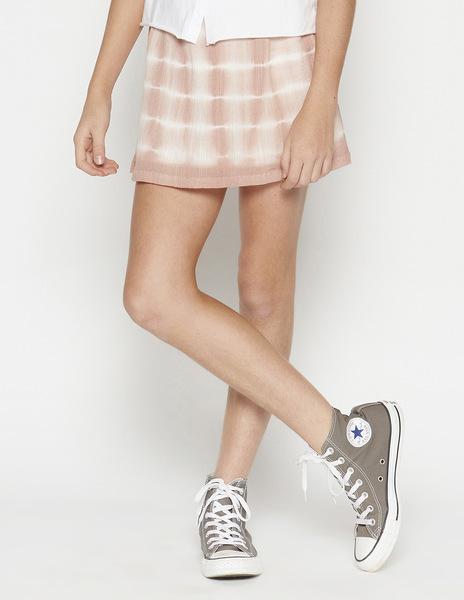 Pink tie dye skirt