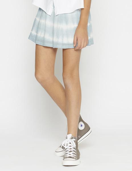 Turquoise tie dye skirt