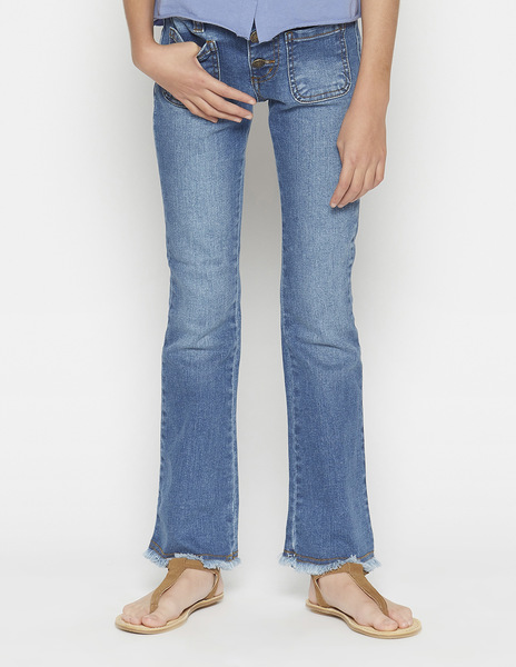 Girls' flared jeans