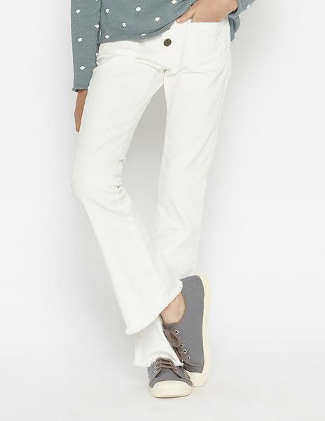 Girls' white flared jeans